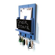 Sydney Mail Organizer/Key Rack With Chalkboard, Baby Boy Blue