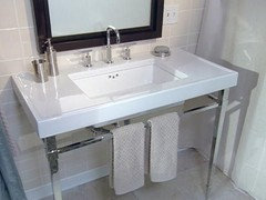 Or Get One Of Those Long Retro Style Sinks In Place Of The Two Vanity Idea.