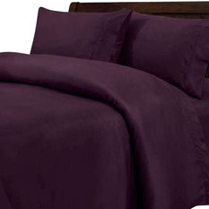 scala 600tc 100 egyptian cotton solid purple full xl size fitted sheet fitted - Full Xl Sheets