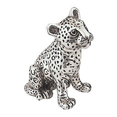 Silver Leopard Cub Small Sculpture A74