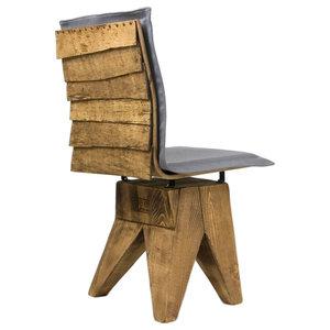 Wooden Shingle Stool, Grey