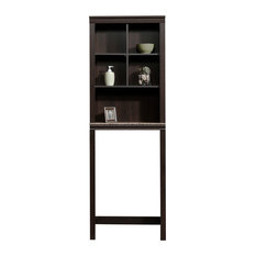 sauder peppercorn etagere cinnamon cherrygranite bathroom cabinets - Bathroom Etagere