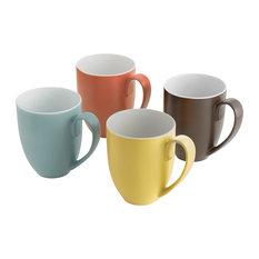 Pop Colours Mugs, Set of 4
