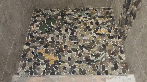 Cool Help Select Grout Color For River Rock Shower Floor Interior Design Ideas Tzicisoteloinfo