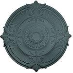 """Ekena Millwork - 53 1/2""""OD x 3 1/2""""P Attica Acanthus Leaf Ceiling Medallion, Americana - 53 1/2""""OD x 3 1/2""""P Attica Acanthus Leaf Ceiling Medallion (Fits Canopies up to 4 5/8""""), Hand-Painted Americana"""