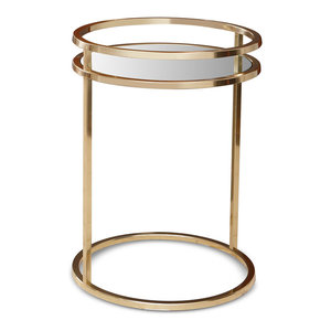 Interlocking Gold Rings Accent Table - Transitional - Side ...