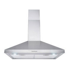 "AKDY Home Improvement - 30"" Wall Mount Stainless Steel Push Panel Kitchen Range Hood Cooking Fan - Range Hoods and Vents"