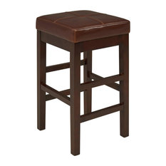 Linden Backless Leather Counter Stool Cognac (set Of 2)