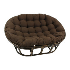 "65""x48"" Tapestry Double Papasan Cushion, Chocolate Brown"