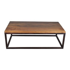 Iron Mango Wood 52-inch Long Industrial Coffee Table