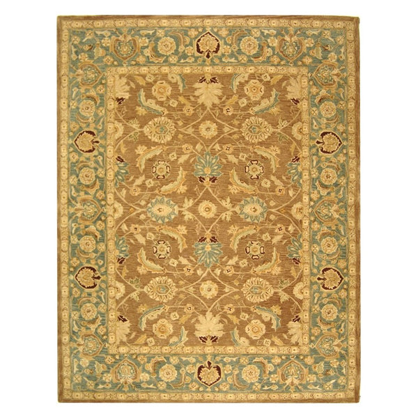 Anatolia Wool Hand-Tufted Brown/Blue Rug, An549A, 9'6
