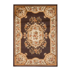 "Paramount Par37 Area Rug, Chocolate, 5'3""x7'3"""