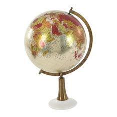 "GwG Outlet Metal Marble Pvc Globe 13""x20"""
