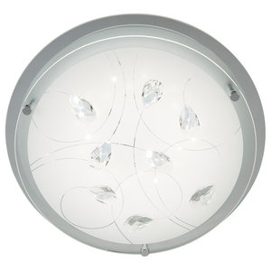 Carey LED Flush Ceiling Light Frosted