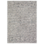 """Safavieh - Safavieh Global Area Rug, GLB879, Gray and Ivory, 6'7""""x6'7"""" Square - Boho-chic style goes indoor-outdoor with the all-weather rugs of the Global Collection. Evocative motifs are displayed in subtle raised-textures and colored in warm, neutral hues, elevating the ambiance of busy living spaces indoors or out. Global rugs are made using durable synthetic yarns to resist wear, weather, and fading from the sun season after season."""