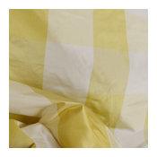 Alexandria Maize Yellow Silk Check Fabric