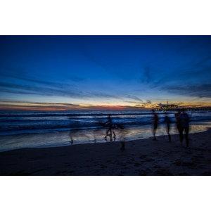 "Pixtury ""Santa Monica Beach"" Photo Print, Aluminium, 70x100 cm"