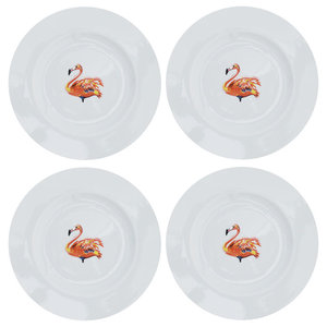 Flamingo Side Plates, Set of 4