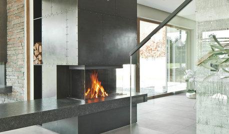Feuer und Flamme: Dieser Kamin heizt (fast) komplett ein Zuhause