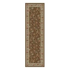 """Floral Garden Brown 2'2""""X7'3"""" Runner Woven RugAnkara Collection"""