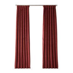 "Signature Burgundy Blackout Velvet Curtain Single Panel, 50""x84"""
