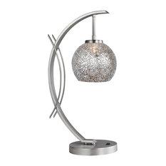 Woodbridge Lighting Eclipse Elliptic Ball Table Lamp, Satin Nickel