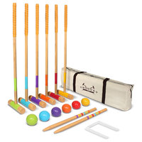 Premium Croquet Set, Full Size for Adults and Kids