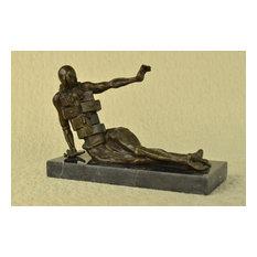 Salvador Dali Abstract Modern Art Mid Century Female Bronze Sculpture Statue Art