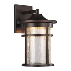 Chloe Lighting Inc Frontier Transitional Led Textured Outdoor Wall Sconce Rubbed Bronze