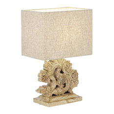 Ideal Lux Peter Resin Table Lamp With Shade