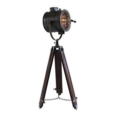 Marine Tripod Lamp, Expresso Brown Finish
