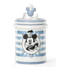 Anchor'S Away Mickey Treat Jar By Lenox, Blue
