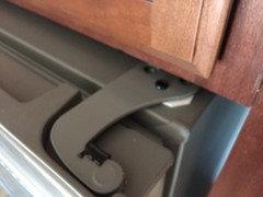 Help! Refrigerator door swings too far