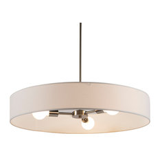 Ziggy 3-Arm Chandelier In Brushed Nickel Finish With Black Organza Shade