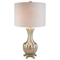 Silver Paisley Table Lamp