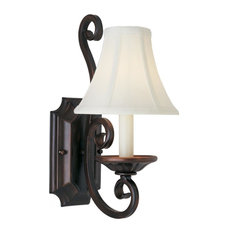 Manor 1-Light Wall Sconce With Shades