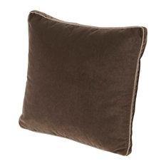 Velvet Pillow with Gusset, Cafe