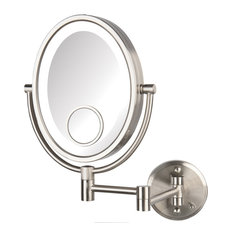 """Jerdon 8""""x10"""" Oval LED Lighted Mirror, Direct Wire"""