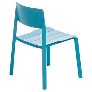 Tri Tube Chair, Turquoise