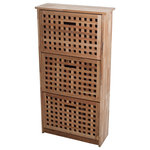 Lavish Home - 3 Drawer Wooden Shoe Storage Cabinet by Lavish Home - Keep all of your shoes organized and off the floor with this elegantly rustic Wooden Shoe Cabinet by Lavish Home.
