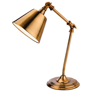 Clarion Table Lamp, Antique Gold