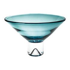 "Monaco Peacock Blue Bowl 12""x7"""