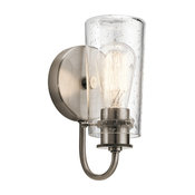 Wall Sconce 1-Light, Classic Pewter