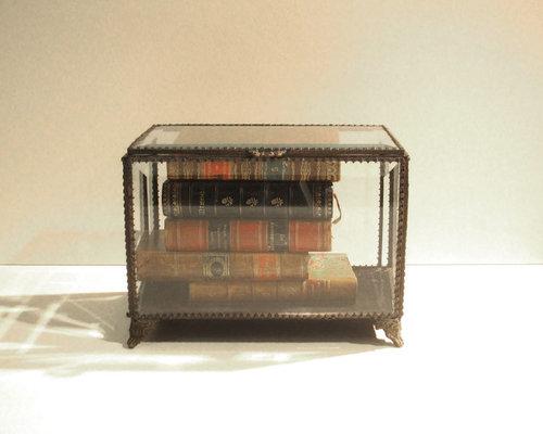 本入りガラスボックス - 装飾ボックス