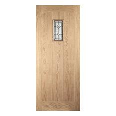 Croft Glazed White Oak Exterior Door, 83.8x198.1 cm