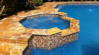Travertine Pool Deck and Patio Remodeling