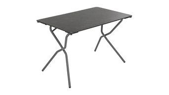Anytime Rectangular Folding Table, Black Steel Frame, Volcanic Finish Table Top