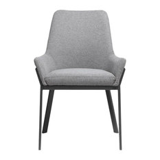 Moes Home Lloyd Dining Chairs Dark Gray Set Of 2