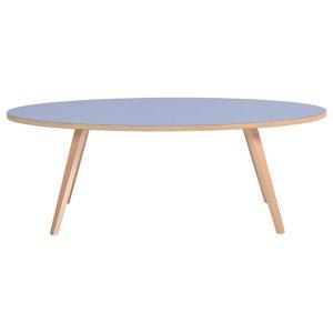 Arvika Oval Coffee Table, Blue