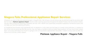 Appliance Repair Niagara Falls - Platinum Appliance Repair 289-271-6843